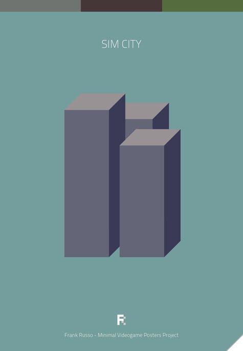 Affiches minimalistes de jeux vidéos - La boite verte