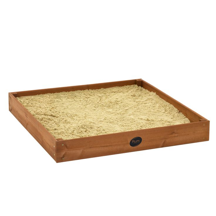PLUM JUNIOR SANDPIT  Children will have hours of inventive play time with the Plum Junior Wooden Sand Pit! Encouraging outdoor play and exercise, this sand box will let your children's creativity run wild, digging, building and making shapes in the sand.