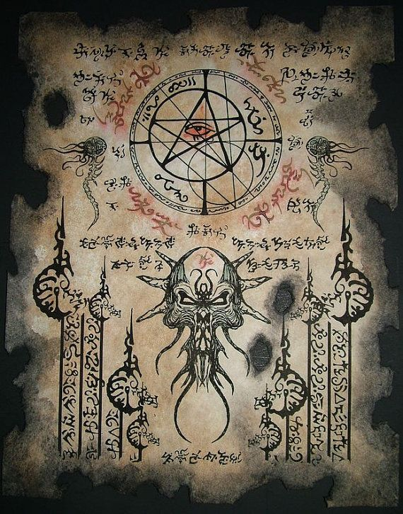 THE ELDER SIGN cthulhu larp Necronomicon Fragment occult by zarono