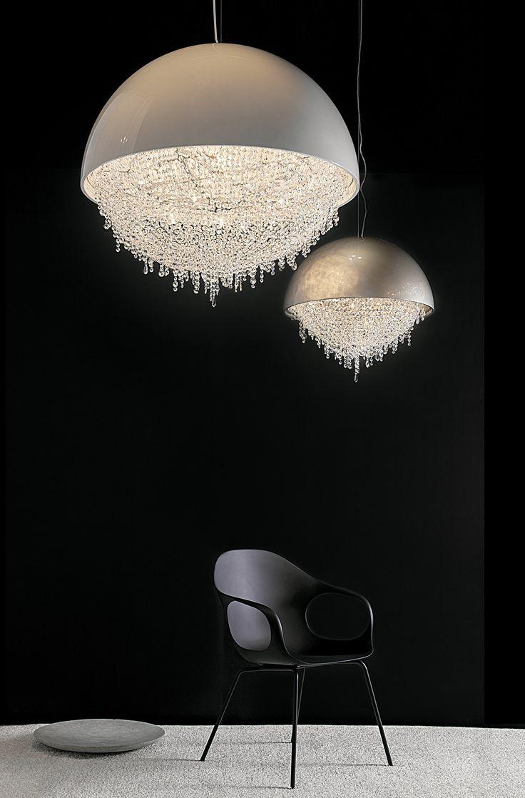 Kichler lighting 42548clp triad 3 light linear pendant classic pewter - Design Lighting Ideas Ozero Crystal Pendant Lamp By Manooi