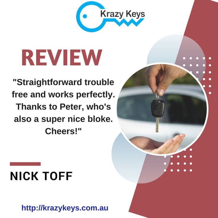 Read the review from our one of the best customers and know why you should hire Krazy Keys for automotive locksmith services in Perth. Thanks Nick for such a great review!!
