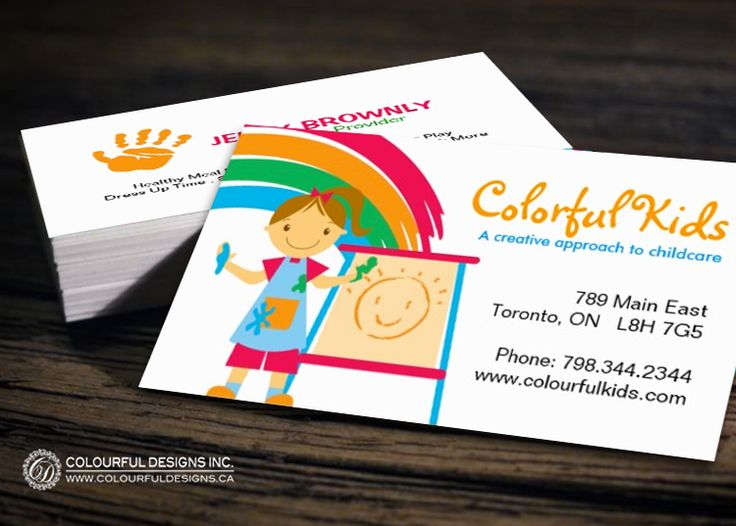 Fully Customizable Childcare Business Card Templates