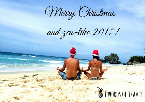 Celebrating Christmas on the #beach. Warm greetings from Bali.