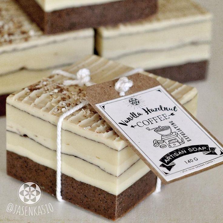 Vanilla hazelnut coffee soap