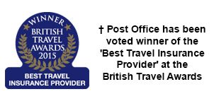 Winner of the 'Best Travel Insurance Provider' at the British Travel Awards