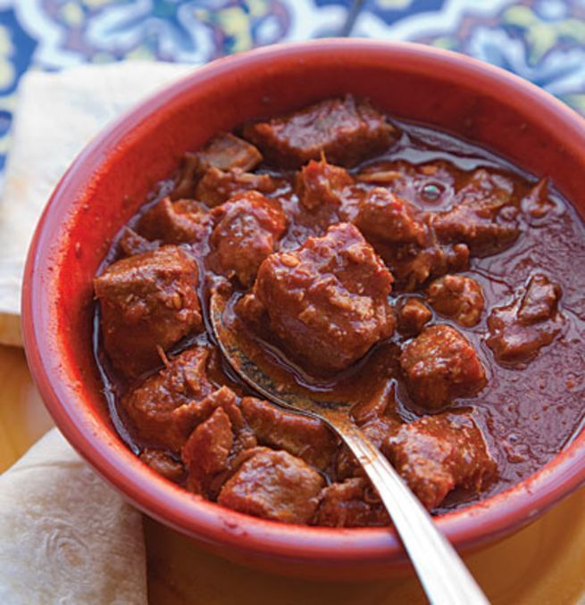 This hearty pork stew is a staple dish in New Mexico. It calls for New Mexico Chile Powder, an earthy, sweet chile powder available at many specialty stores.