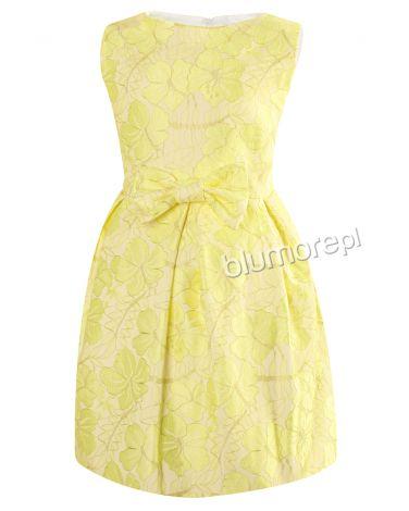 Sukienka w słonecznym kolorze 134-158 Tina żółty