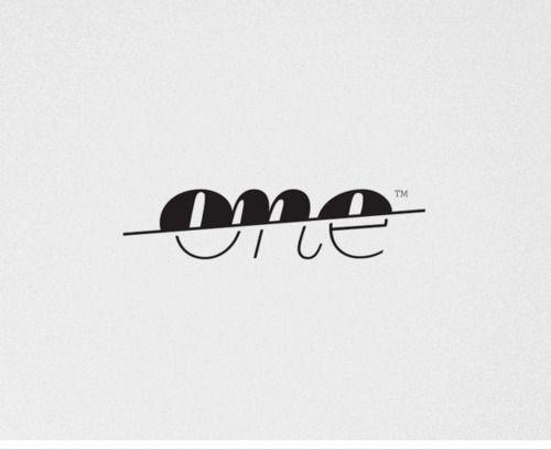 one. #logo #typography
