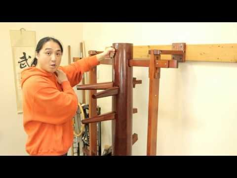 Wing Chun Muk Jong (Wooden Dummy) Beginners Training Drill Developing One Technique - YouTube