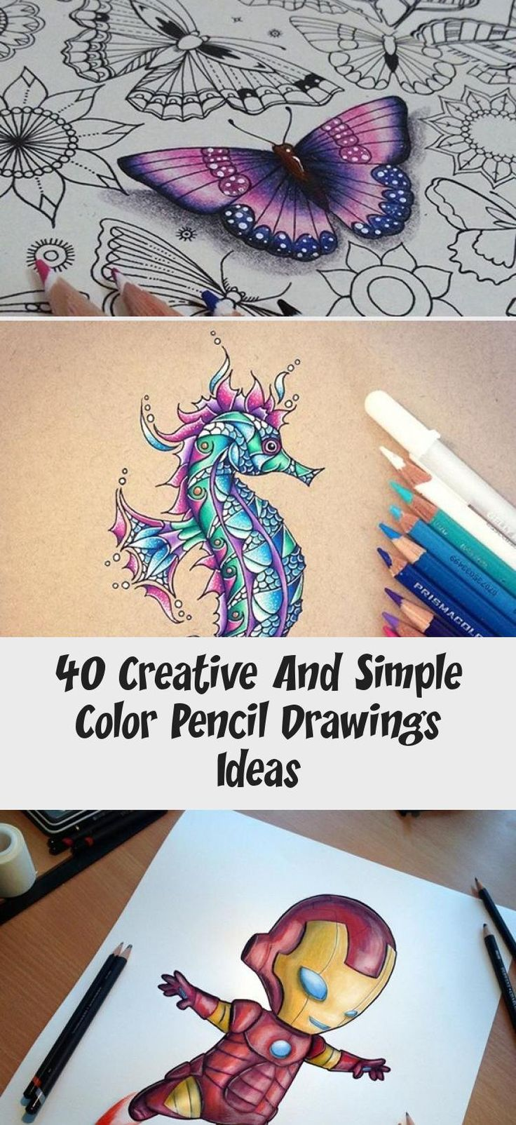 pencil drawing drawings simple creative colored pencils draw colors colourful