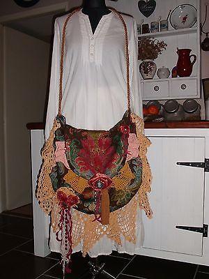 Handmade Maxi Magnolia Pearl Style Vintage Crochet Gypsy Boho Hippie Handbag