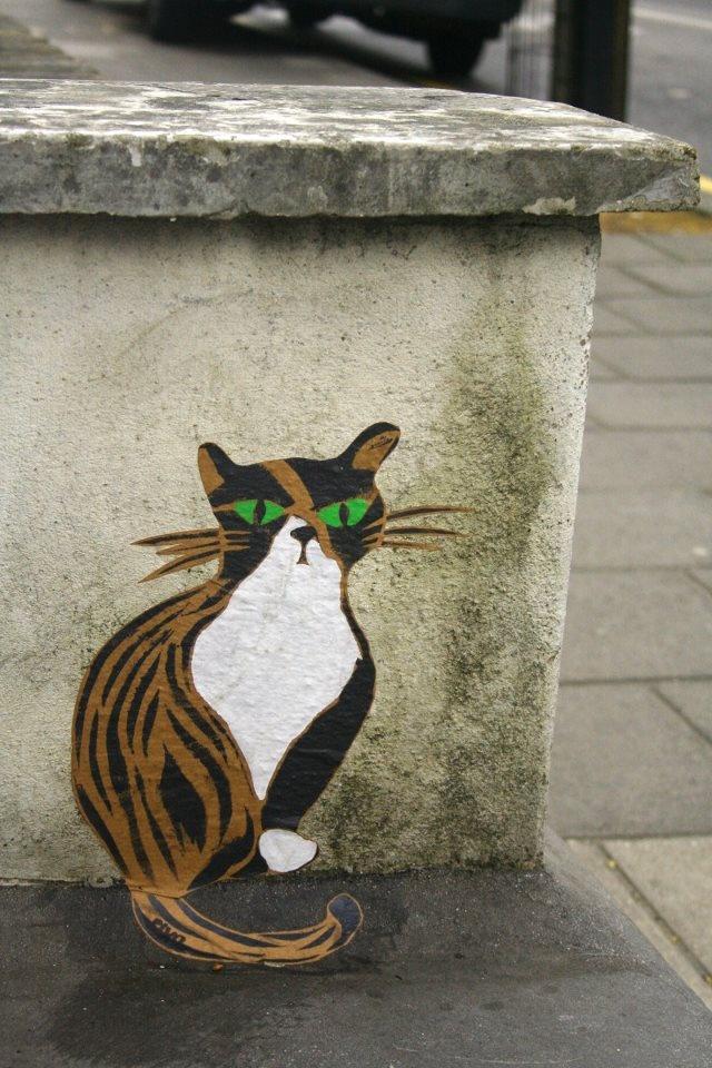 PivoKitty Cats, Cat Artistry, Meow Purr Kitty'S Cat, Art Green, Street Art, Arty Cat, Cat Street, Art Cat, Streetart