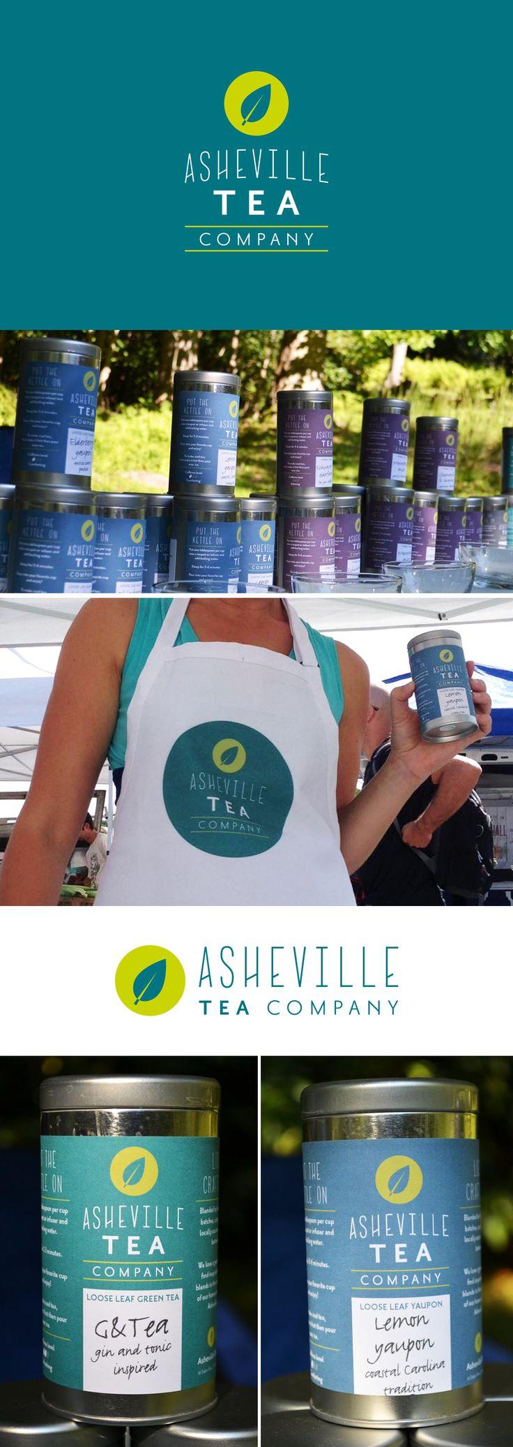 Asheville Tea Company logo design by Snow in July Designs.