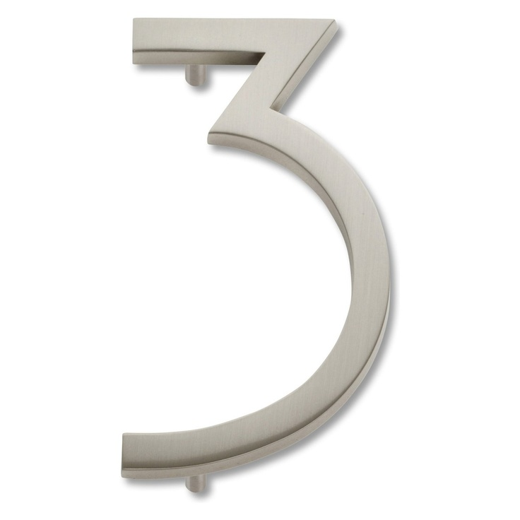 Atlas Homewares Modern Avalon 4.5 in. House Number - Address Letters and Numbers at Hayneedle