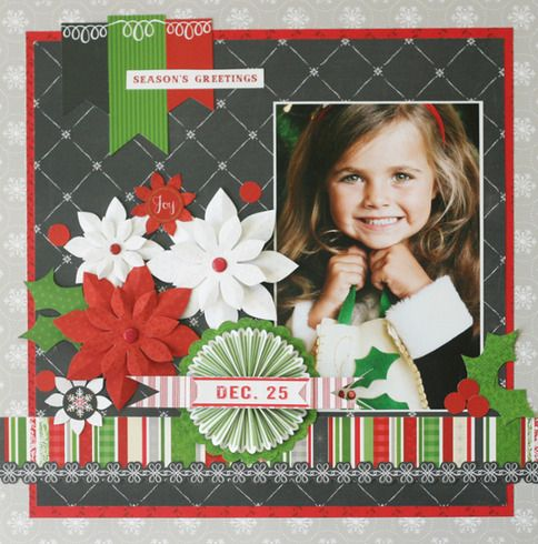 This adorable layout by Little Yellow Bicycle used the Making Merry collection!