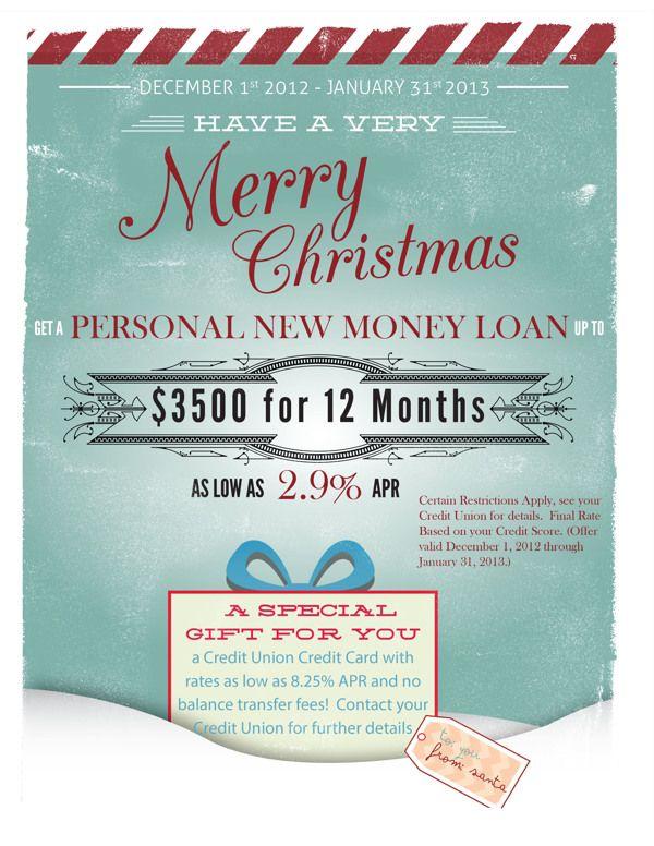 Christmas Flyer 2012 - Spirit of America Credit Union on Behance