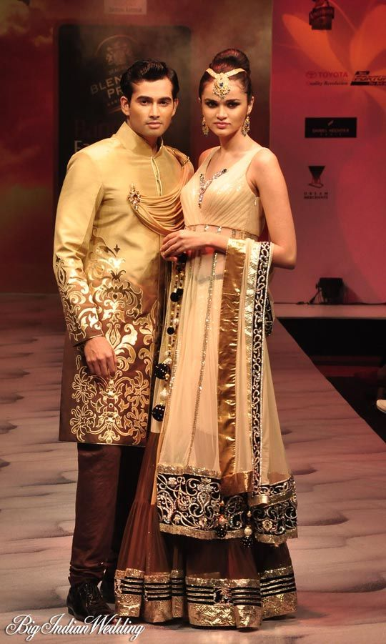 Archana Kochhar wedding collection for brides and grooms.find similar lace designs on www.lacaxo.com