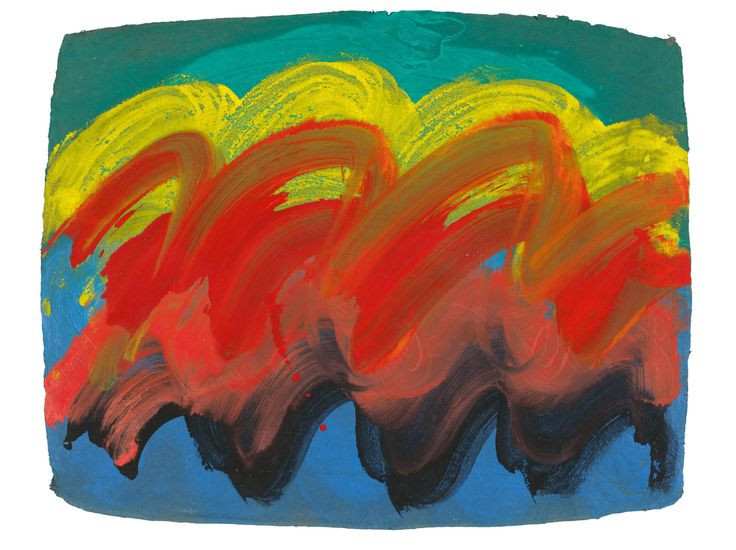 Howard Hodgkin was one of the most admired artists of the postwar period. Orange Sunset, 1990-91.