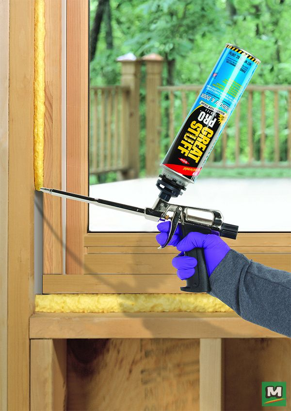 Achieve amazing energy efficiency with GREAT STUFF PRO™ Window & Door Insulating Foam Sealant! This flexible polyurethane foam sealant is specially formulated to seal gaps between window and door frames. In just a few minutes, this foam will expand and cure to create an incredibly effective seal.