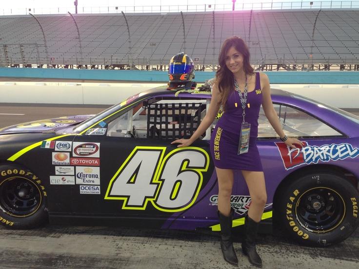 Takismobile and helmet waiting for Irwin Vences!! NASCAR MEXICO TOYOTA SERIES 120