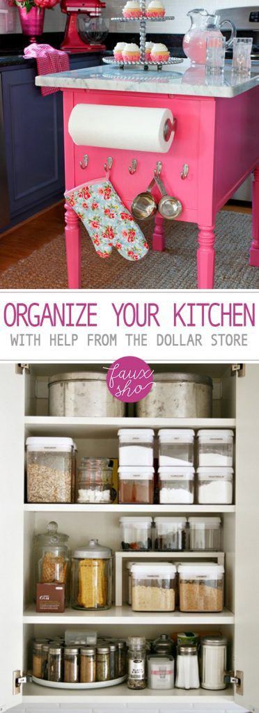Organize Your Kitchen With Help from The Dollar Store| Dollar Store, Dollar Store Organization, Home Organization, Home Organization Tips and Tricks, Dollar Store Home Organization, Dollar Store Home #HomeOrganization #DollarStore