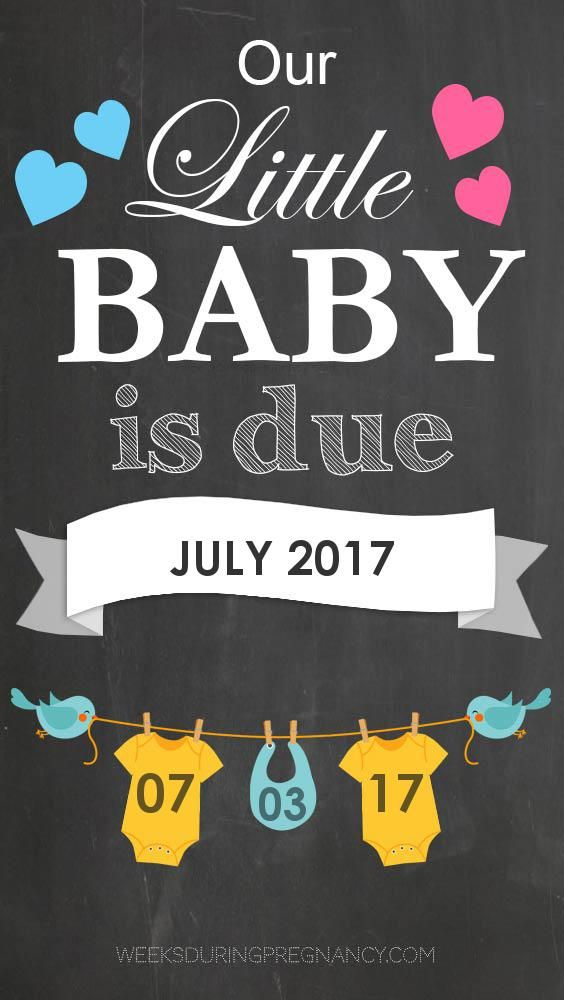 Get week by week and specific information for my estimated due date, 7/3/2017!