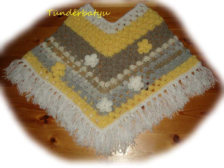 crocheted poncho for girls https://www.facebook.com/tunderbatyu/