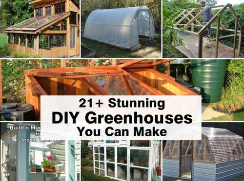 21 Stunning Garden Greenhouses You Can Make...http://homestead-and-survival.com/21-stunning-garden-greenhouses-you-can-make/