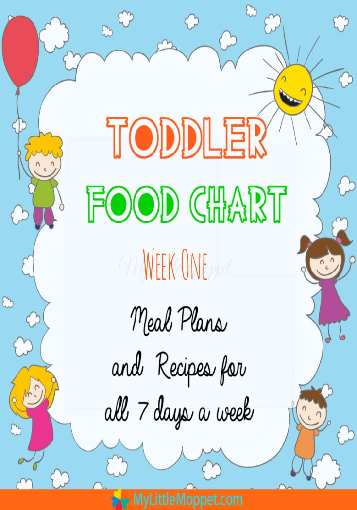 Toddler Food Chart with recipes week 1 pinterest