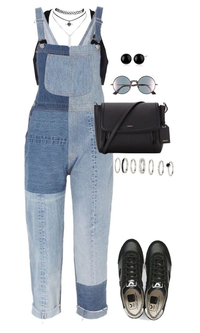 """Untitled #339"" by katiemarte ❤ liked on Polyvore featuring Calvin Klein, RE/DONE, Wet Seal, DKNY, Le Specs and H&M"