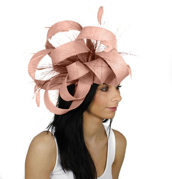 Ralitza Pale Dusky Pink Fascinator Hat For Weddings Races And Special Events With Headband