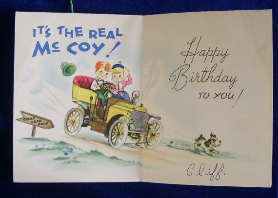 125 best birthday card collection images on pinterest happy 1940s marionette puppet birthday greeting card wire fox terrier antique car inside artistic card co m4hsunfo
