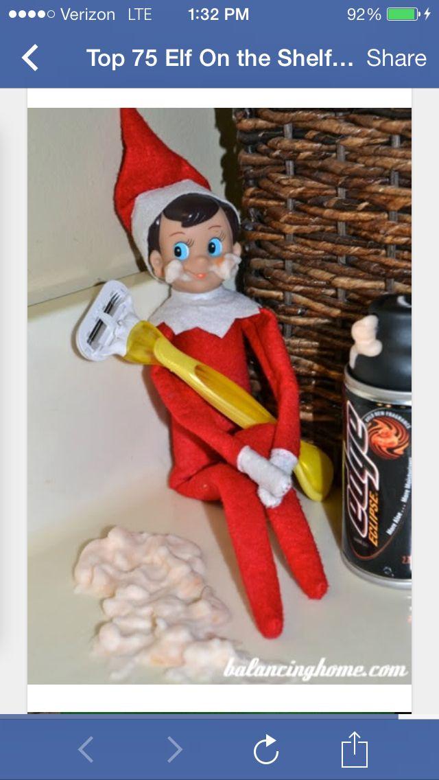 Tim will love this one! | Elf on a Shelf ideas! | Pinterest