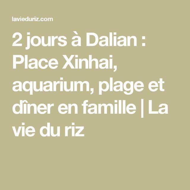 2 jours à Dalian : Place Xinhai, aquarium, plage et dîner en famille | La vie du riz