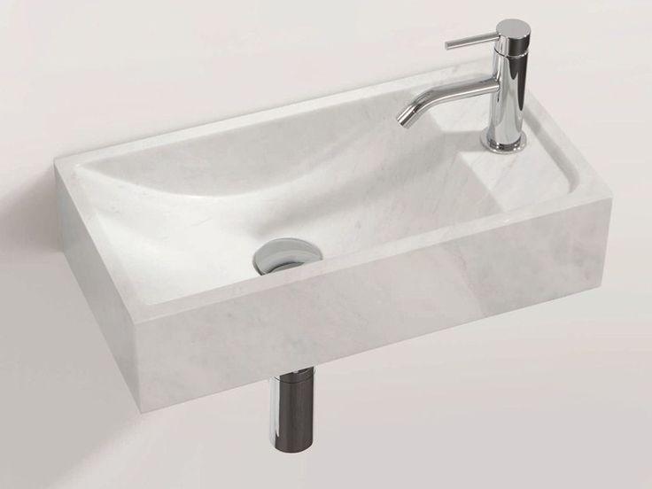 Rectangular wall-mounted natural stone washbasin HWB 1 by DECOR WALTHER