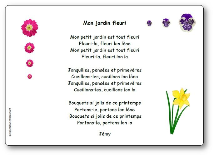 Comptine Mon Jardin Fleuri De Jemy Paroles Illustrees De La