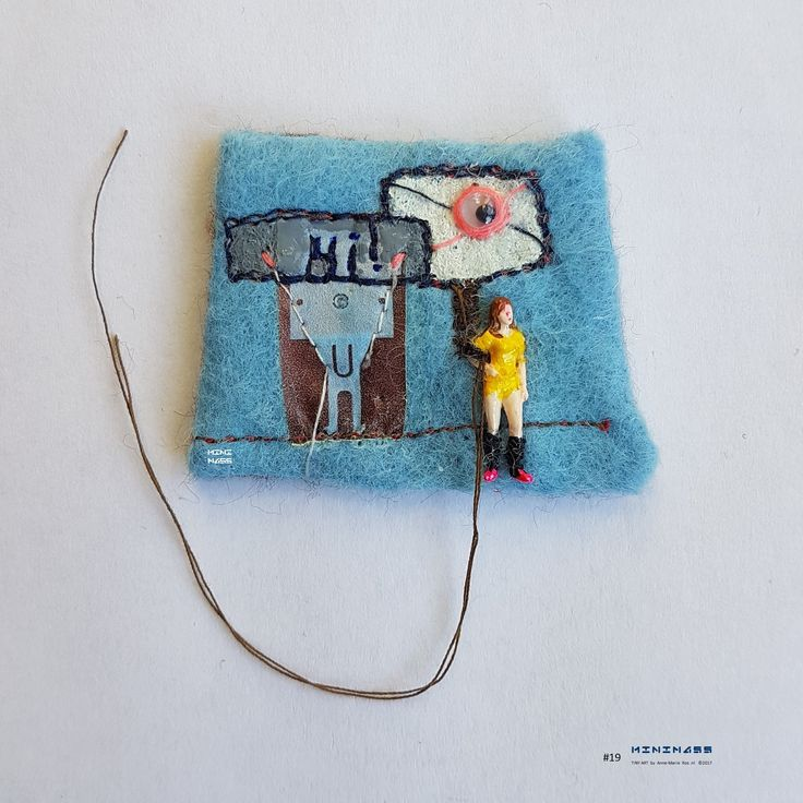 Hi!, I See You - I See Faces Everywhere. minimass® TINY ART by Anne-Marie Ros .nl #19 is available - makes a great gift or just spoil yourself ;)