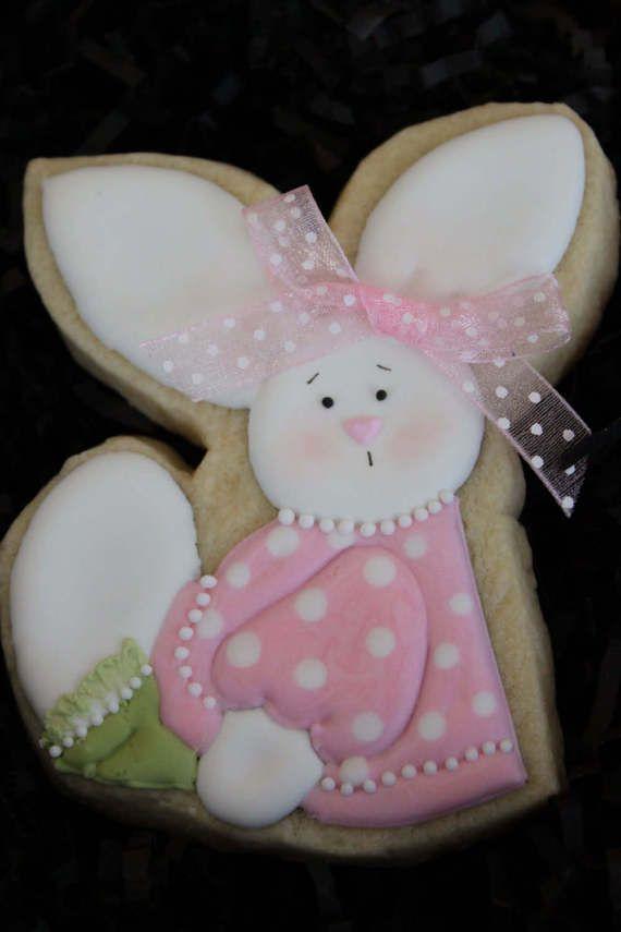 Galletas de bebé ducha favores galletas de conejito Cookie