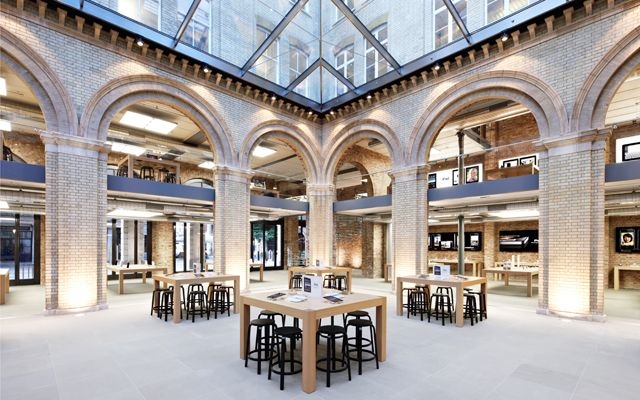 Apple Store at Covent Garden, UK (Spot the glass staircase at the back)