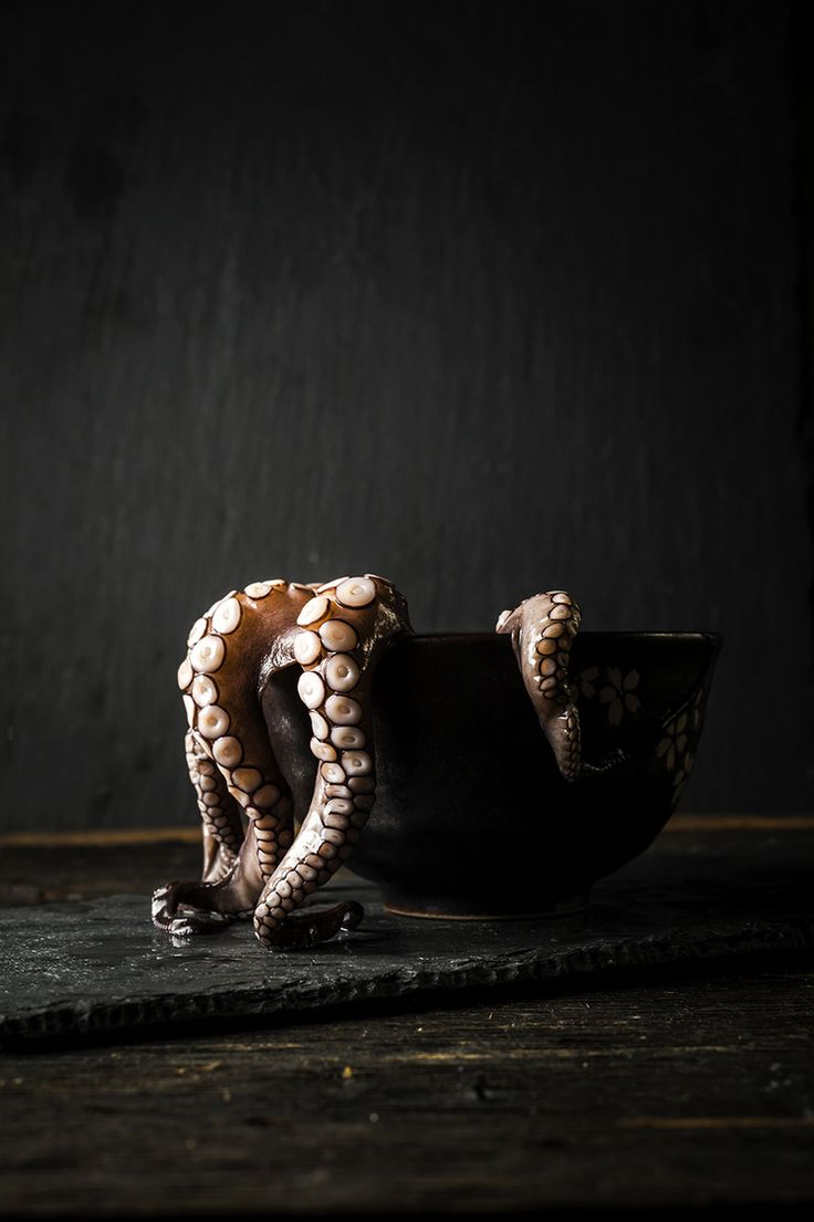 Octopus in a Bowl | Food Photography & Styling by Regan Baroni | Up Close & Tasty