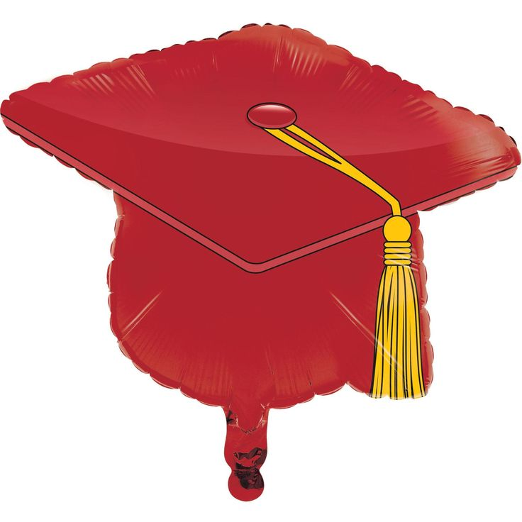 "Graduation Metallic Balloon,22"" Mortarboard Red"