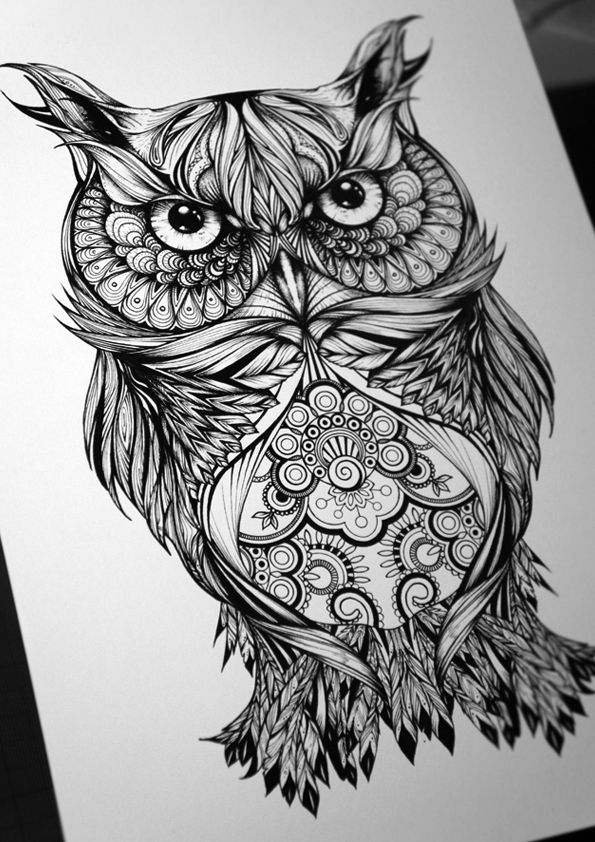 tattoo owl owl tattoos tattoos and body art owl drawings cool art ... Owl Eyes Tattoo