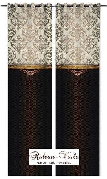 Décoration#tissu#ameublement#rideau#or#ornement#imprimé#baroque