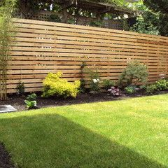 Fence for Modern Garden, wood planks or long lines fro a modern look