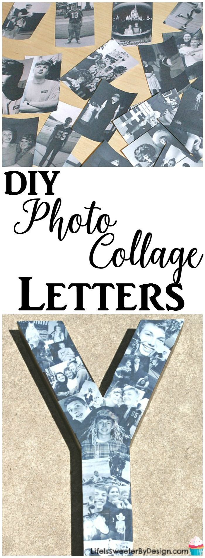 This DIY Paper Mache Photo Letters Collage is easy to make and is a great personalized gift idea! Check out my easy to follow personalized photo letter tutorial that makes a great graduation or wedding gift!