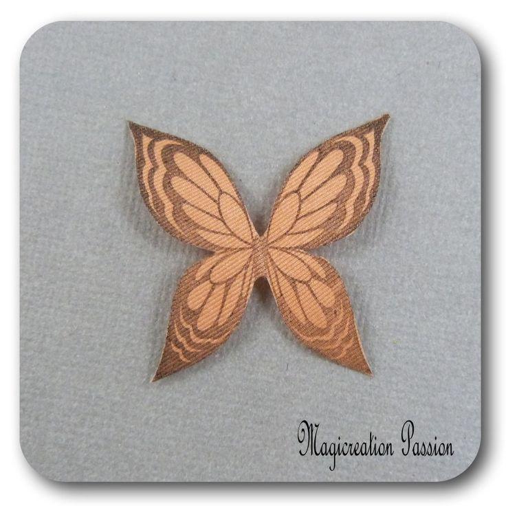 ailes de papillon 3.5 cm soie orange-Ysatis : Décoration d'intérieur par les-tiroirs-de-magicreation-passion
