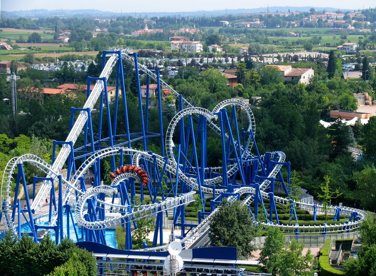 Blue Tornado is a steel inverted roller coaster at Gardaland, Castelnuovo del Garda, outside Verona, Italy. It is an extended standard model, with additional helix, of the Suspended Looping Coaster manufactured by Vekoma. The ride's highest force is at 4.5G's during the sidewinder inversion. A model Panavia Tornado fighter jet is seen on top of the station for decorative purposes.