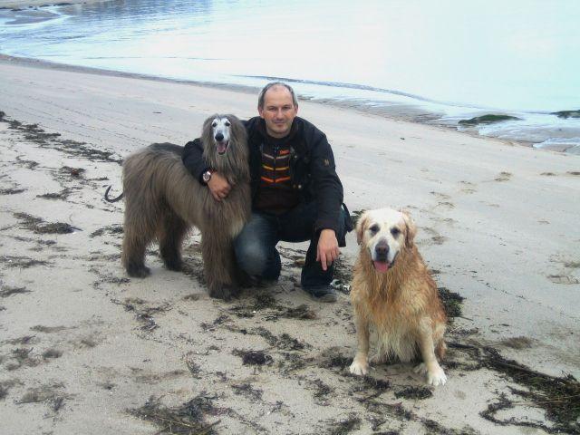 Cuper y Adur en la playa de Camposantos en A Guarda.. mucho corrimos y disfrutamos por esta playa