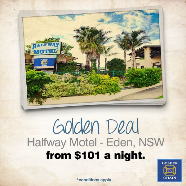 #GoldenDeal! Stay at the Halfway Motel in Eden, NSW from $101 a night! Click here for details: http://ow.ly/AFAmx
