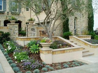 modern tuscan dramatic pool, outdoor living room, – mediterranean – landscape – san diego – by The Design Build Company #Tuscandesign